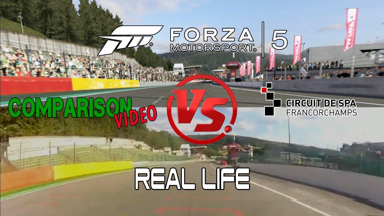 Forza Motorsport 5 Vs Real Life @ Spa Francorchapms Comparison