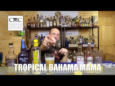 Tropical Bahama Mama with Authentic Grenadine by Stirrings
