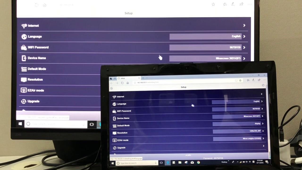 MiraScreen 2 4G Windows (Windows 7 and above) setup and mriroring