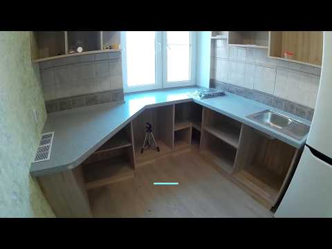 DIY How to make a solid surface in a small kitchen