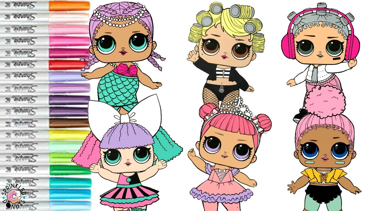 LOL Surprise Dolls Coloring Book Compilation Merbaby