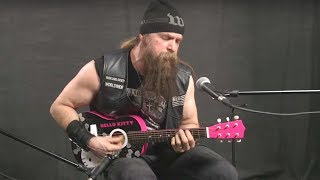 Zakk Wylde Plays Black Sabbath on Hello Kitty Mini-Guitar