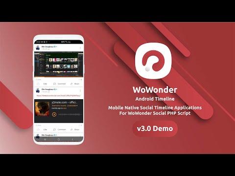 WoWonder Social Native Mobile Application Timeline Demo v2.9.1