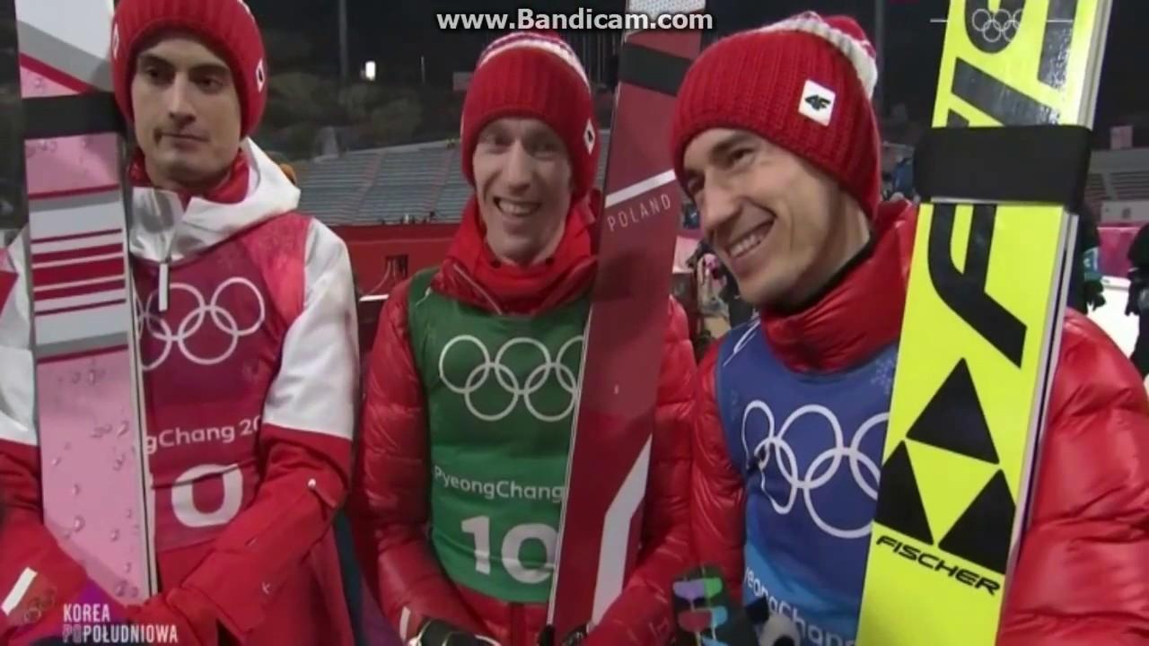 Stoch●Kubacki●Hula●Kot 3 miejsce Polski Pyeongchang 2018 HS 142