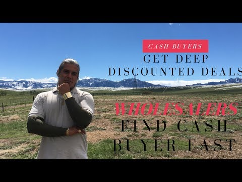 Cash buyers get deep discounted deals via email, wholesalers find cash buyer fast - COME TALK TO ME