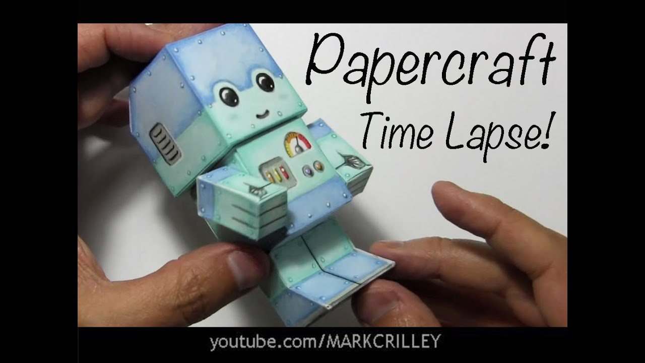 Papercraft Drawing Time Lapse: Chibi Robot Paper Craft