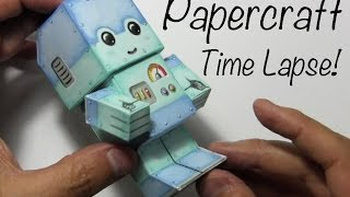 Drawing Time Lapse: Chibi Robot Paper Craft