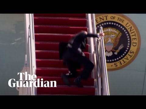 Joe Biden stumbles on steps of Air Force One