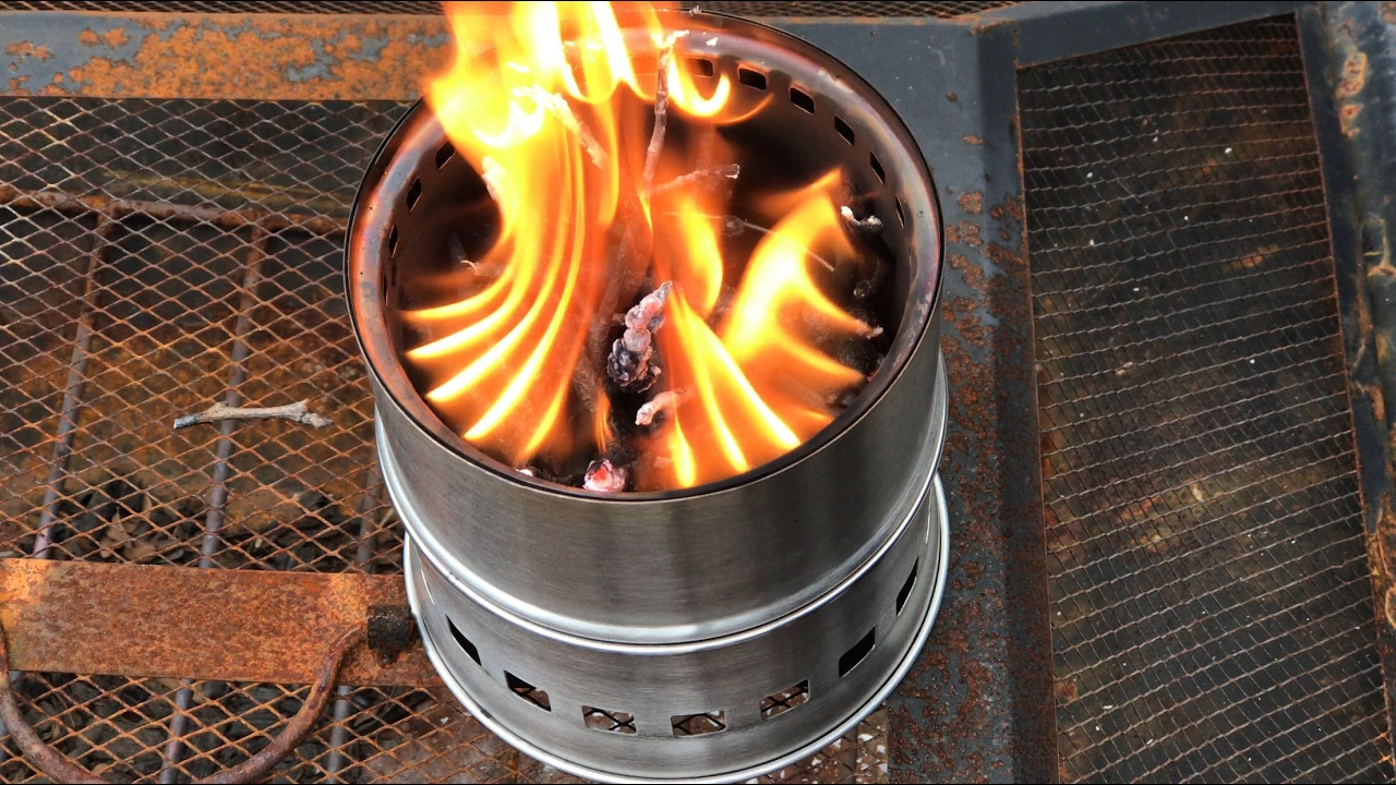 Portable Stainless Steel Wood Burning Camp Stove By