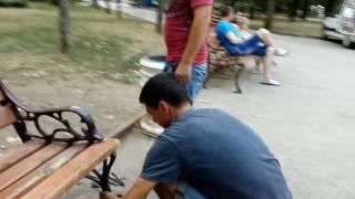 ЧП в детском парке 3(В детском парке, испугавшийся пони, привязанный к скамейке вырвал её и мотылял по всей площади. Чудом никто..., 2016-07-26T20:50:28.000Z)