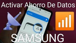 📶 Como ACTIVAR y DESACTIVAR el AHORRO de DATOS en SAMSUNG 2021 FÁCIL y RÁPIDO screenshot 1
