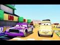 Arabalar Şimşek McQueen Hızı Sonunda Luigi'nin Pistine Gidiyoruz (Araba Oyunu)
