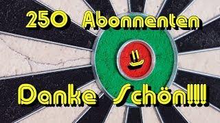 250 Abonnenten - Zu mir und zu den Videos - Danke schön