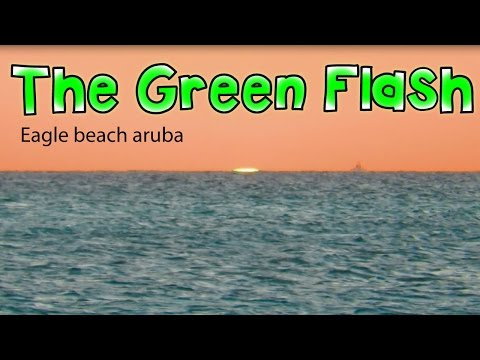 Green Flash At Sunset In The Caribbean | ARUBA