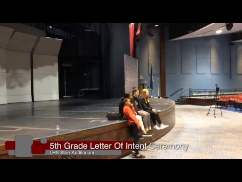 5th Grade Letter of Intent Ceremony - May 23rd