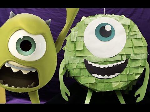 How To Make A Mike Wazowski Piñata   Disney DIY
