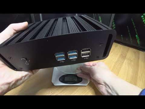 Супер тонкий, маленький и мощный мини компьютер Intel core I7 обзор XCY HLY qotom неттоп