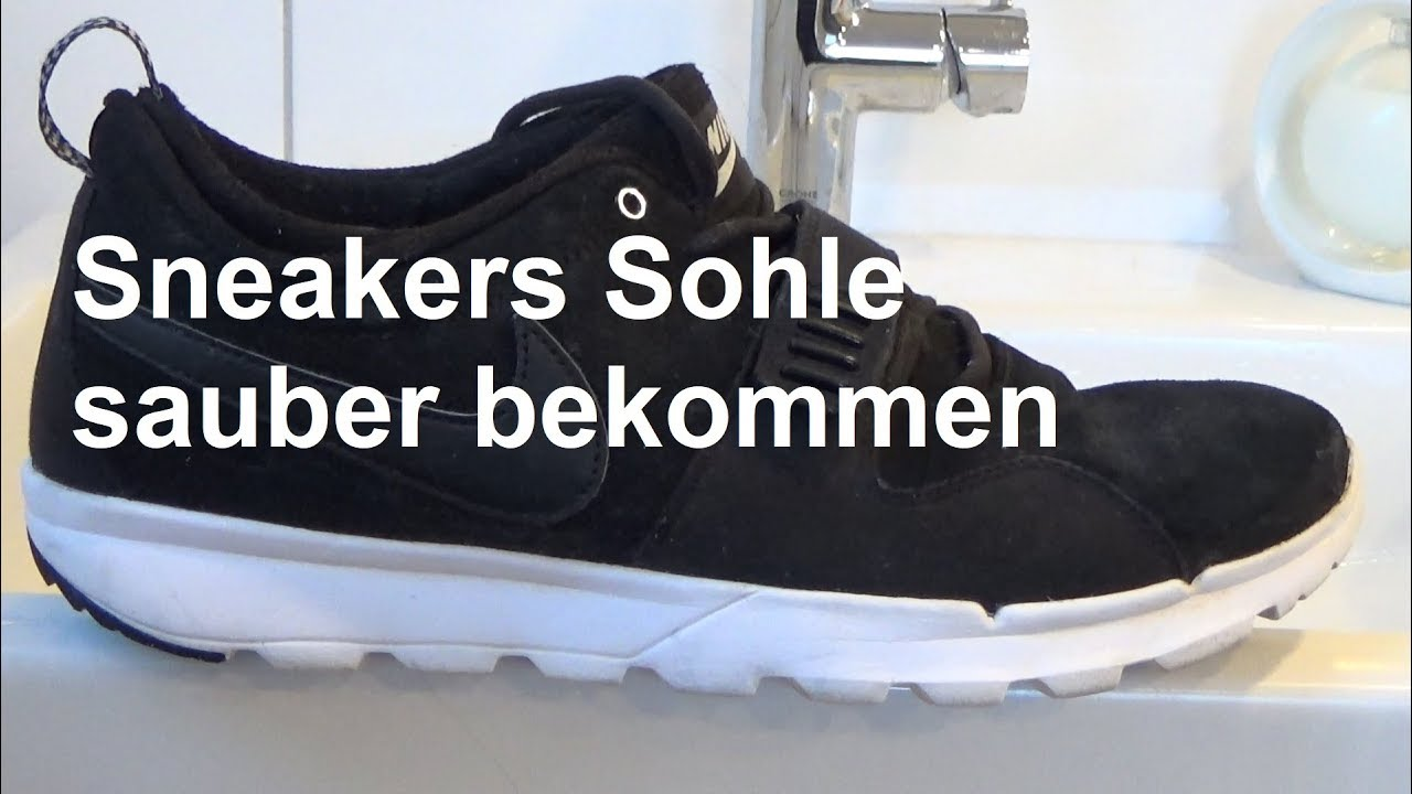 Lifehack Sneakers weiße Sohle reinigen Stark verschmutzte Sohle sauber machen