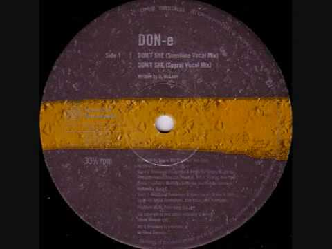 "Don-E - ""Don't she (Sunshine vocal mix)"