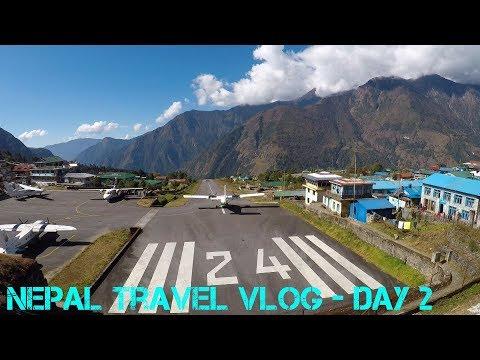Nepal Travel Vlog Day 2 - Kathmandu to Monjo Via Lukla (World's Most Dangerous Airport?)