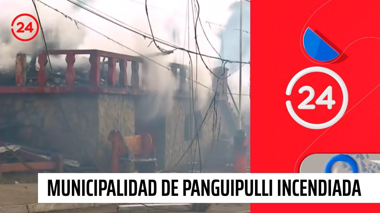 Así quedó la municipalidad de Panguipulli tras el incendio
