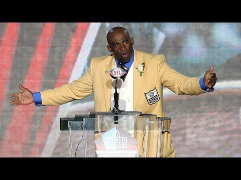 "Deion ""Prime Time"" Sanders Pro Football Hall of Fame Speech"