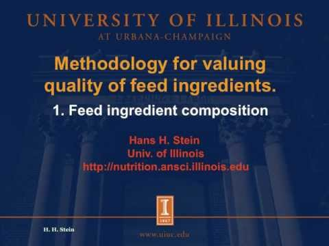 Valuing feed ingredients, 1/2: Feed ingredient composition