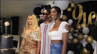 TIWA SAVAGE BREASTS ALMOST POPPED OUT AT 9ICE BIRTHDAY PARTY