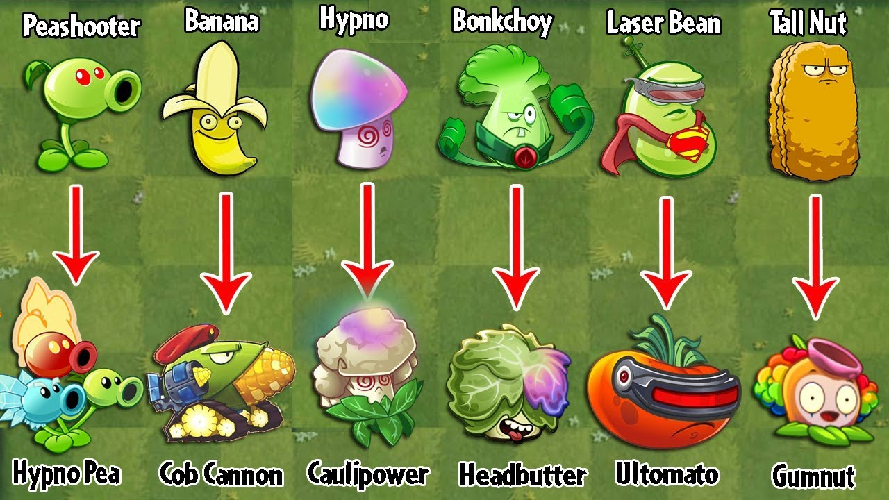 PvZ 2 Discovery - All Plants Evolution WEAK - STRONG