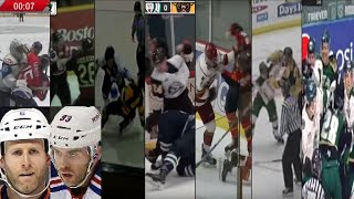 2018 JUNIOR HOCKEY FIGHT COMPILATION- Keith Yandle & Ryan Whitney on Fighting in Juniors