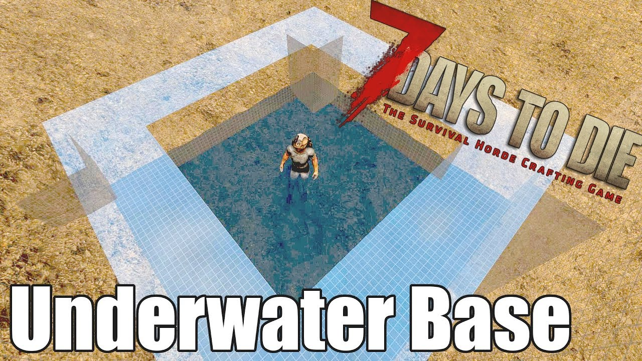 7 Days To Die Underwater Base With Dry Dock Moon Pool