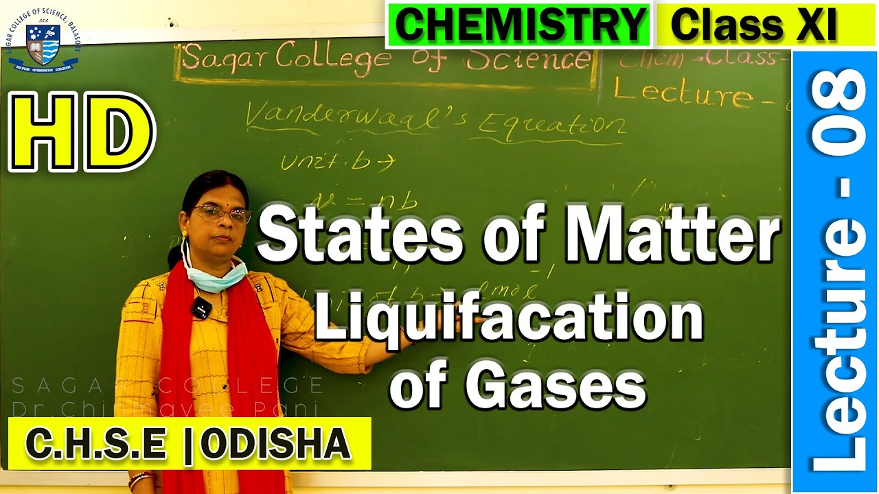 Chemistry | States of Matter | Lecture - 8 | Liquefaction of gases | Online Class