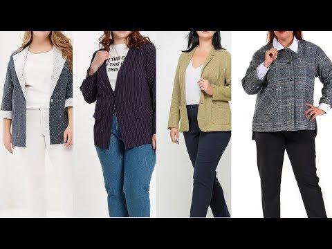 Не полнят! Пиджаки Для Полных Женщин 2019 Года
