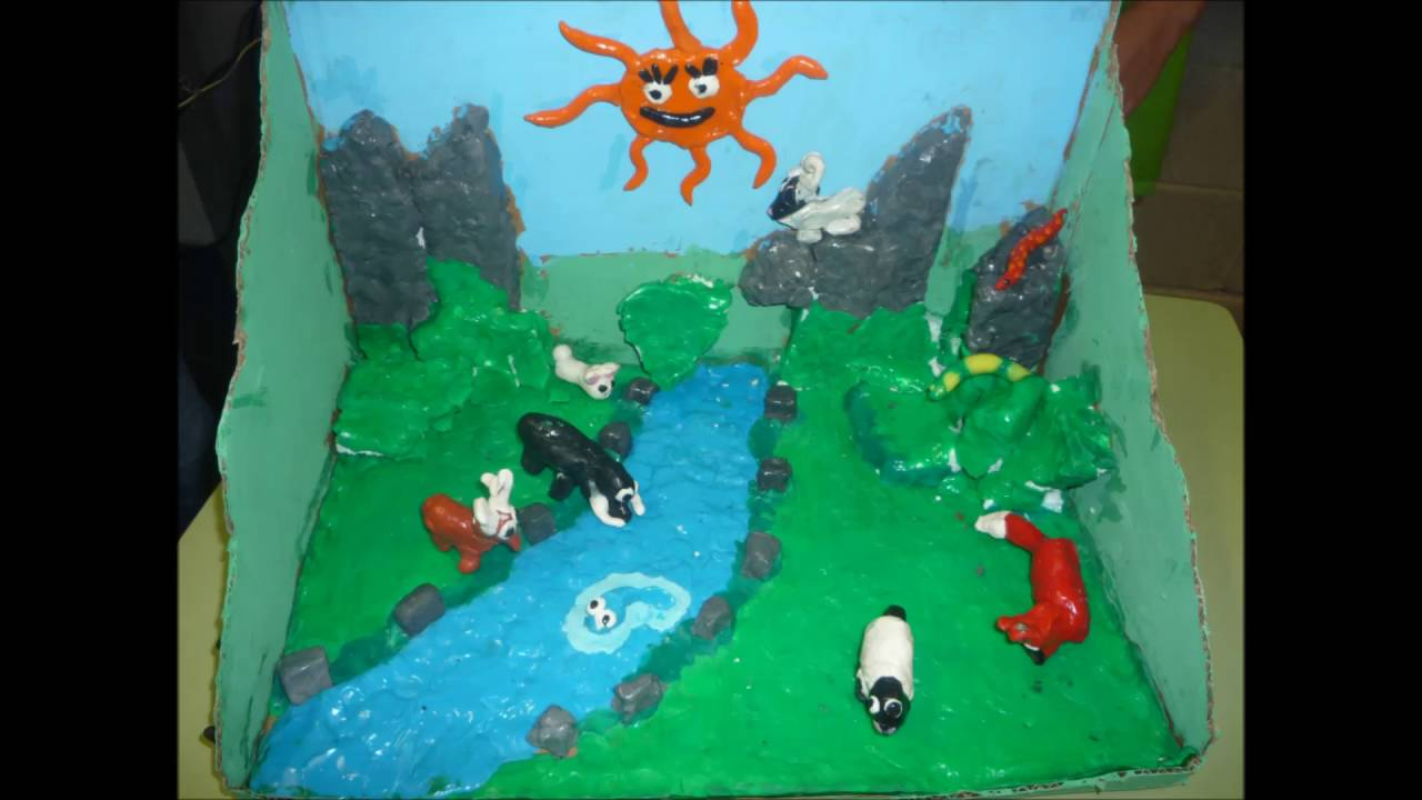 Art and craft animal habitats youtube for Youtube art and craft