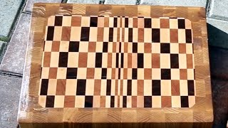 Large Inlaid End Grain Cutting Boards