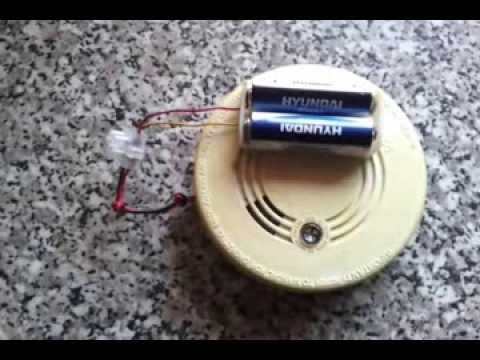 Security Deterrent Using A Old Smoke Alarm That Bleeps Indicating