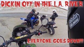 Dickin off in the LA River w/ Suburban Delinquent & Klaus