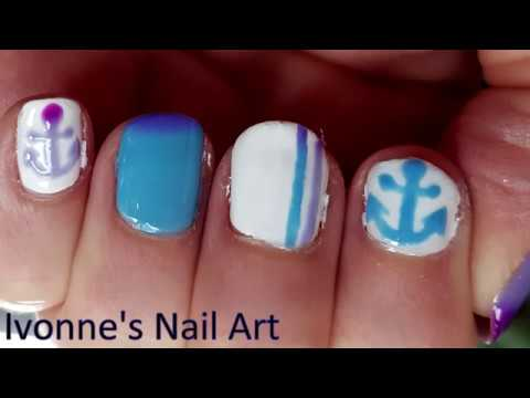 How-to: Easy Color Changing Anchor Nail Art Tutorial thumbnail