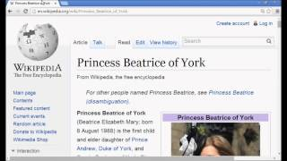 The Royal Bloodline Of 88...Princess Beatrice Of York