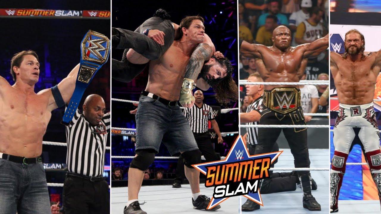 WWE SummerSlam 1st August 2021 Highlights, Roman reigns vs. John Cena   Goldberg Wins   Edge Results