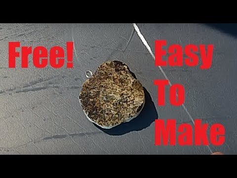 How To Make A Stone Fishing Weight For Free!