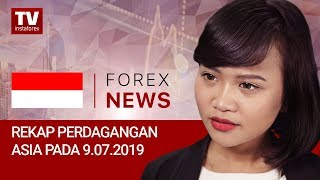 InstaForex tv news: 09.07.2019:  Akankah USD melemah setelah pidato Powell? (USDX, JPY, AUD)