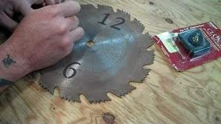 Super Simple Diy Saw Blade Clock