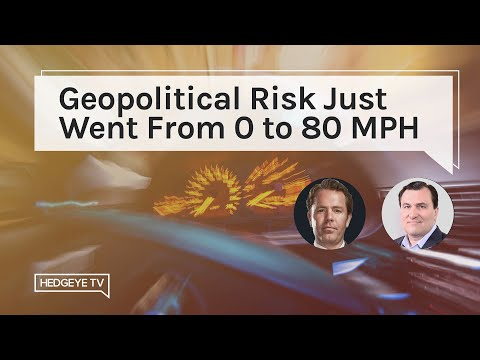 Geopolitical Risk Just Went From 0 to 80 MPH