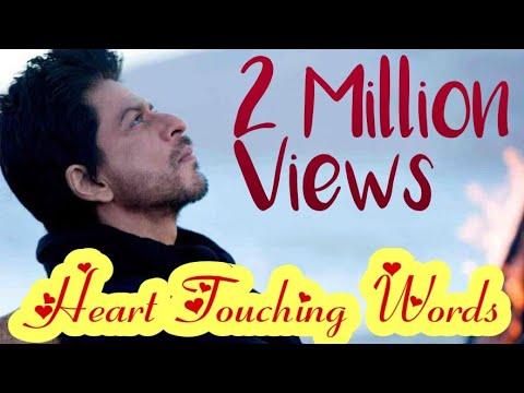SRK Heart Touching Words | Whatsapp Status | Kal Ho Na Ho