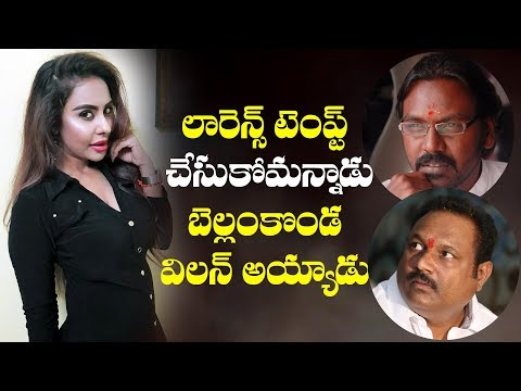Sri Reddy targets Raghava Lawrence and Bellamkonda Suresh