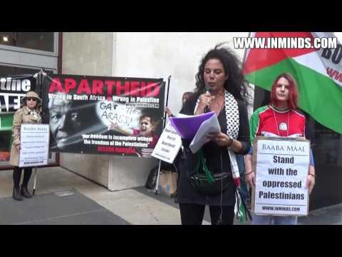 Baaba Maal Cancel Apartheid Israel Performance - London Protest 3 Sept 2016 [Inminds]