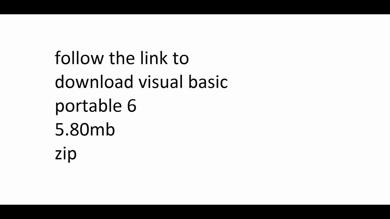 Visual basic portable 6 0 скачать