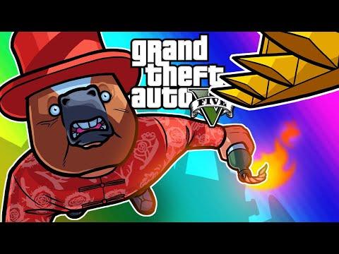 GTA5 Online Funny Moments - Return of Unfair Windmill Dodgeball!