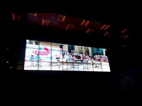 Auroled P12 Transparent  led screen in McDonald's in Shanghai